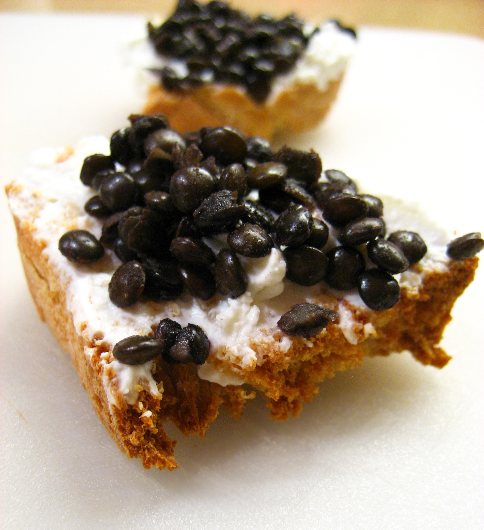 Beluga Lentil Crostini Recipes — Dishmaps