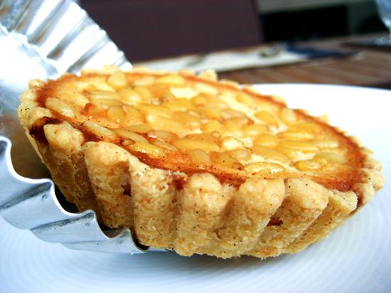 Honey, anthotiro and pine nut tart