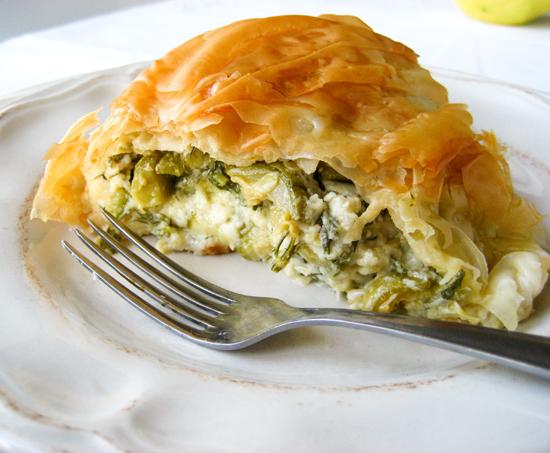 Courgette pie in a a bundt/Κολοκυθόπιτα σε φόρμα