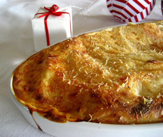 Canneloni filled with pumpkin and Greek graviera from Dodoni/ Κανελόνια γεμιστά με κολοκύθα και γραβι�ρα Δωδώνης