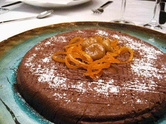 Chestnut and chocolate torte/ Τούρτα σοκολάτας με κάστανο