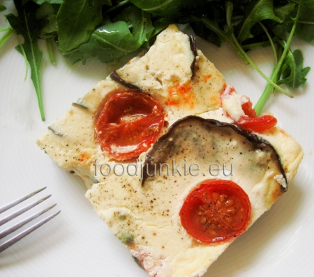 aubergine cheesecake