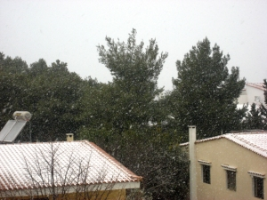 The view from our house yesterday morning/ Η θέα από το σπίτι μας χτες το πρωί