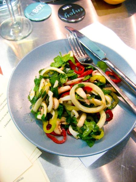 warm kalamari salad