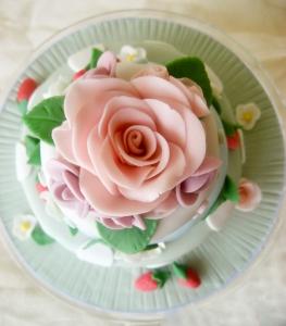 sugarpaste fondant rose