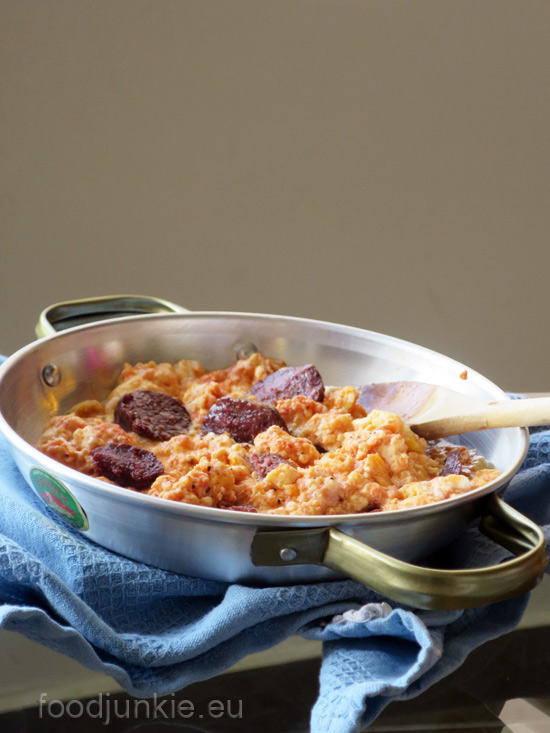 eggs-with-spicy-sausage