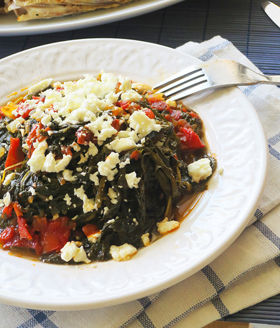 cokked-horta-with-tomato-and-feta